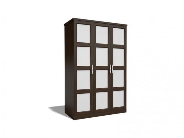 Распашной шкаф из массива венге 3-х створчатый Парма