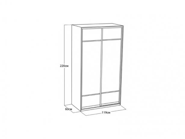 Шкаф 2-х дверный Como/Veda с зеркалами