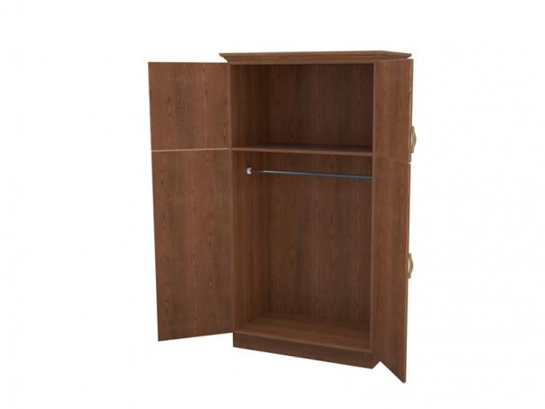 Распашной шкаф 2-х створчатый Эдем орех