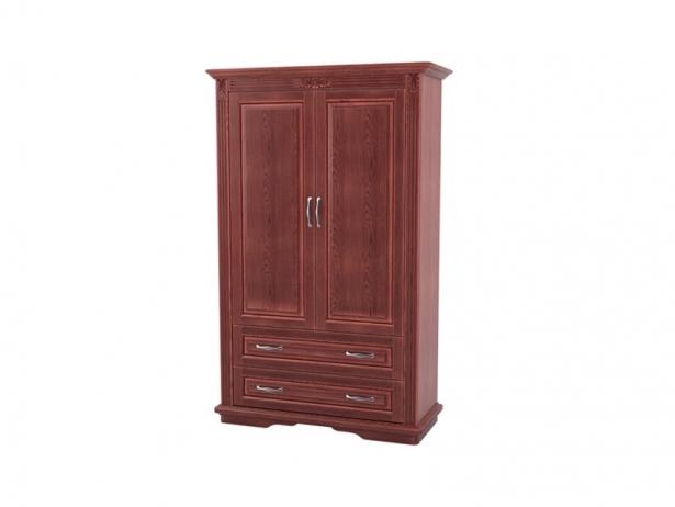 Шкаф из массива 2-х створчатый Палермо  с ящиками каштан