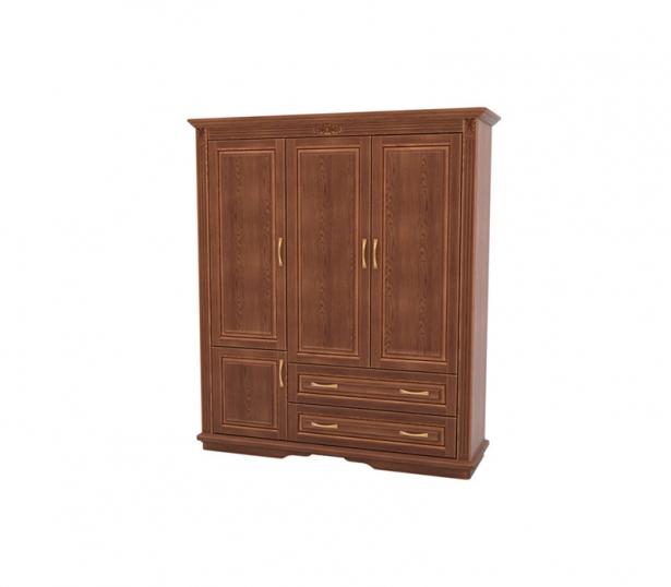 Элитный шкаф из массива 3-х створчатый Палермо  с ящиками орех
