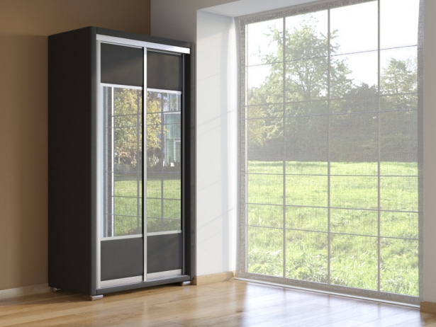 Шкаф-купе 2-х дверный Orma Soft черный