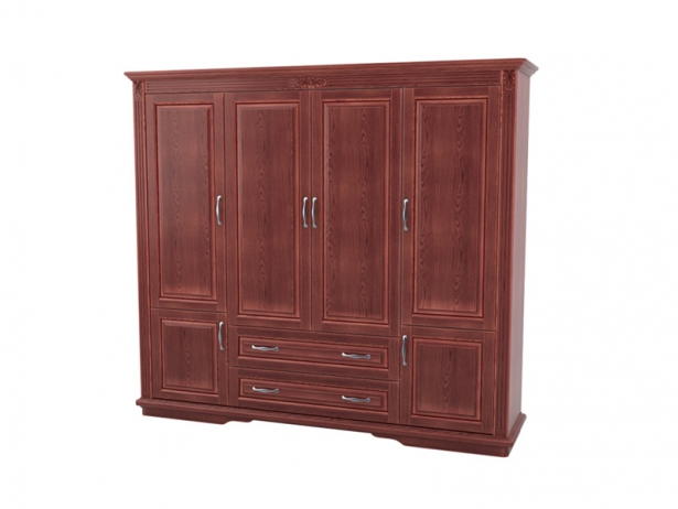 Шкаф из массива 4-х створчатый Палермо  с ящиками каштан