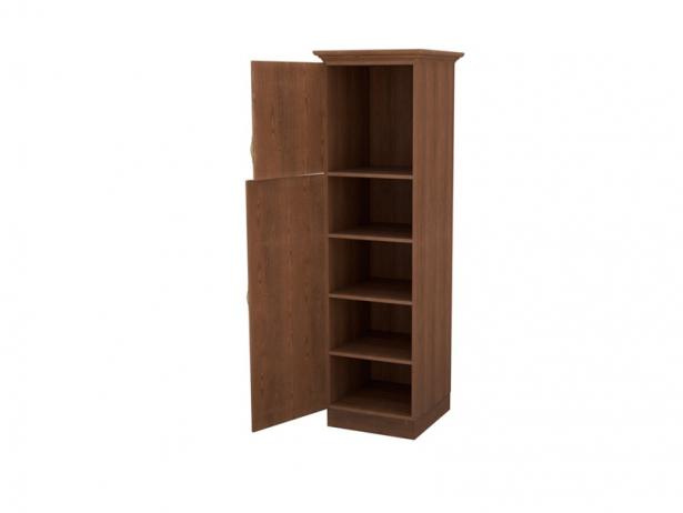 Купить шкаф из массива 1-но створчатый Эдем орех