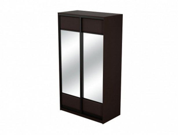 Купить шкаф-купе кожаный 2-х дверный Como/Veda с зеркалами