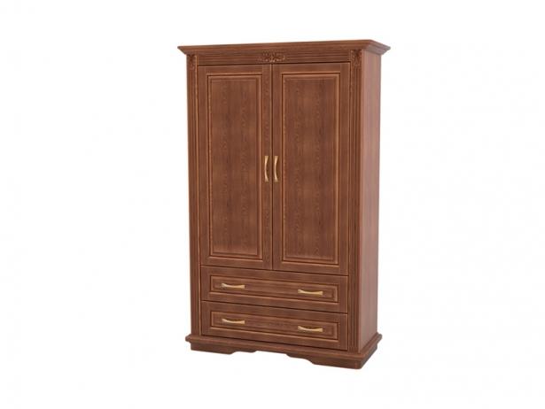 Шкаф из массива 2-х створчатый Палермо  с ящиками орех
